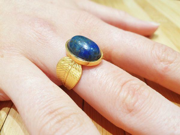 Bague Hathor Lapis Lazuli ma fantaisie 2