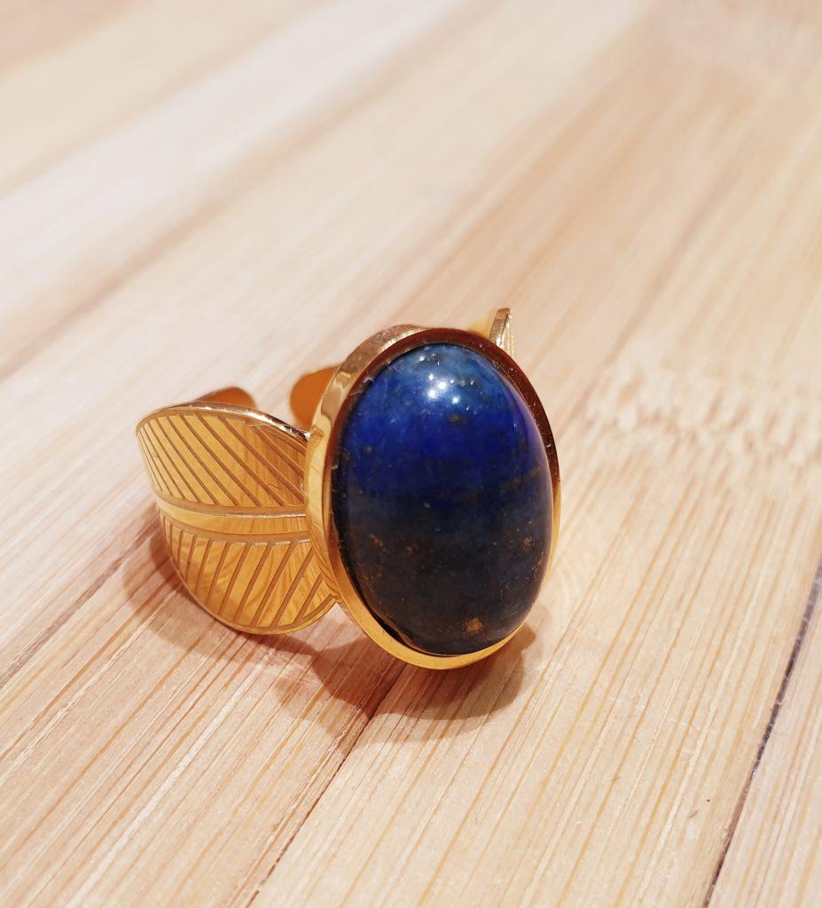 Bague Hathor Lapis Lazuli ma fantaisie