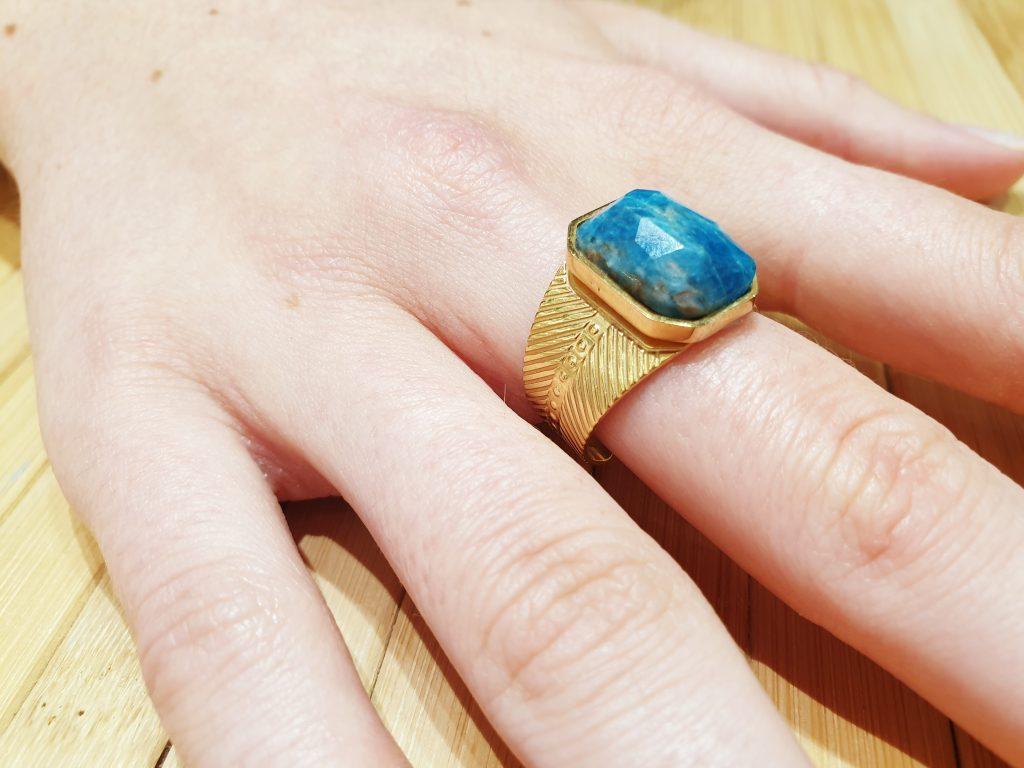 Bague Khepri Lapis Lazuli ma fantaisie