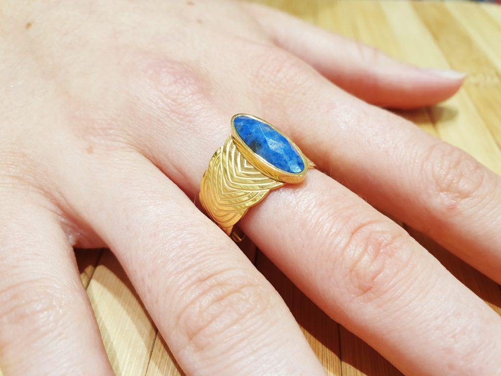 Bague Nephtys Lapis Lazuli ma fantaisie