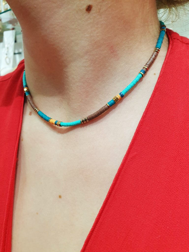 Collier Sho Turquoise omacoo