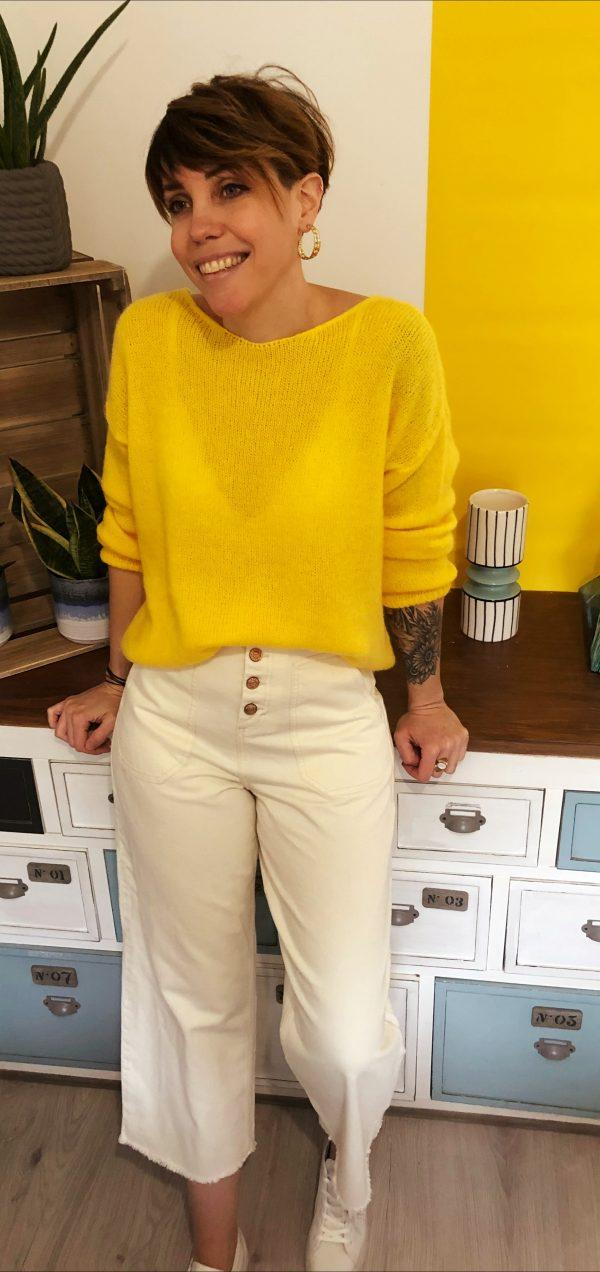 Pantalon Lilo Blanc orfeo 3