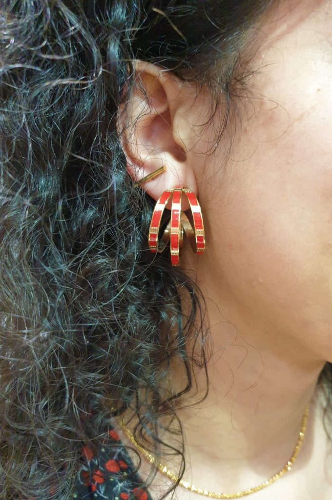 Boucles d'oreilles Oedipe Rouge OMACOO