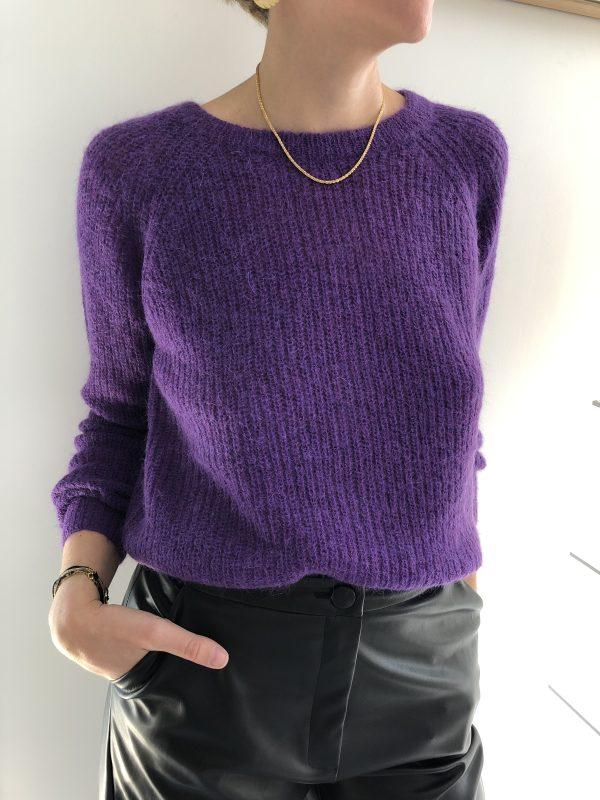 Pull Kisi Violet garance 3