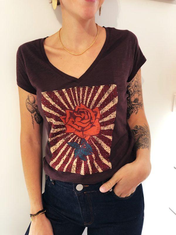 T-shirt Tonton 80s Rose leon and harper